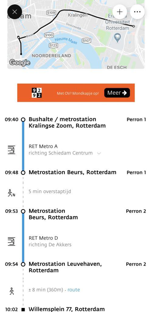 OV reis Rotterdam